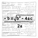 P1390-Quadratic Equation Algebra Personalized Decoupage Plate