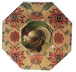 Thanksgiving Decoupage Plates