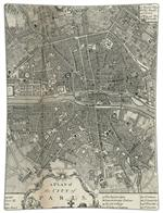 P1481 - Antique Paris Map Decoupage Plate