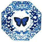 P1492 Blue Butterfly with Black Edge