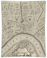 P1589 - Antique New Orleans Map DecoupageTray