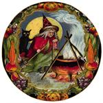 P195- Witches Brew Decoupage Plate