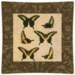 P2428-Brown Butterfly Decoupage Plate