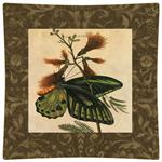 P2430-Brown Butterfly Decoupage Plate