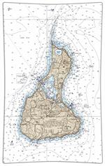 P2487-Block Island Nautical Chart Decoupage Tray