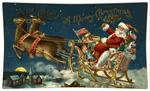 P2611-Santa and Reindeer Decoupage Tray