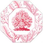 P2713-A - Pink Coral Decoupage Plate