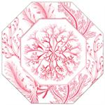 P2713B-Pink Coral Decoupage Plate