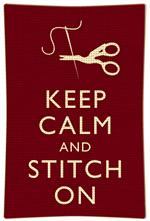 P2794 - Keep Calm And Stitch On Plate