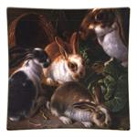 P27 - Four Bunnies Square Plate