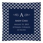 P2857-Chelsea Navy Personalized Birth Announcement Plate