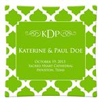P2862 - Lime Chelsea Grande Personalized Plate