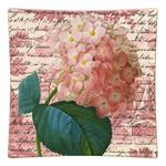 P295 - Pink Hydrangea on Rose Toile Square Decoupage Plate