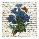 P304 - Blue Flowers on Writing