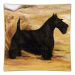 P312 -Scottish Terrier Square Decoupage Plate