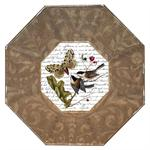 P349 Bird Decoupage Plate