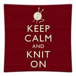 P8270 - Keep Calm And Knit On Decoupage Plate