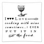 P8273- I love cooking with wine.. Decoupage Plate
