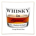 P8282-Whisky is liquid sunshine.George Bernard Shaw Decoupage Plate