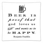 P8287- Beer is proof that god loves us and wants us to be happy. Benjamin Franklin Quote Decoupage Plate