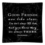 P8312-Good Friends are like stars quote Decoupage Plate