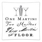 P8314- One Martini Two Martini  Three Martini  Floor Decoupage Plate
