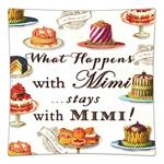 P8316-What happens with Mimi stays with Mimi Decoupage Plate