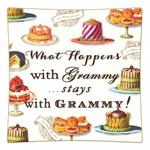 P8317-What happens with Grammy stays with Grammy Decoupage Plate