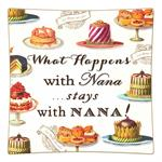 P8318-What happens with Nana stays with Nana Decoupage Plate