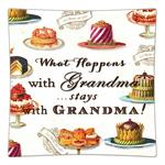 P8321-What happens with Grandma stays with Grandma Decoupage Plate