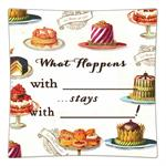 P8322-What happens with ? stays with ? Decoupage Plate