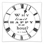 P8329-Why limit happy to an hour? W.C. Fields Decoupage Plate