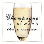 P8331- Champagne is always the answer Decoupage Plate