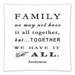 P8356-Family - We may not have it all together, but togther we have it all Decoupage Plate