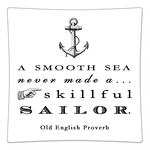 P8365-A smooth sea never made a skillful sailor Quote Decoupage Plate
