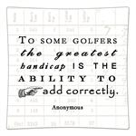 P8370 To some golfers, the greatest handicap is the ability to add correctly. Decoupage Plate  Anonymous