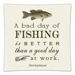 P8377-A bad day of fishing is better than a good day of work.  Anonymous Decoupage Plate