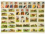 P8589-Jockey and Racing Horses  Decoupage Plate