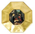 P96 - Gold Leaf Decoupage Plate