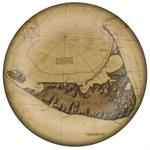 PW1768 - Nantucket Antique Map Paperweight