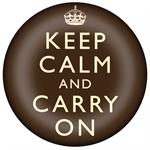 PW2431-Keep Calm and Carry On Brown Paperweight