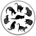 PW2444 - Cat Silhouettes Paperweight