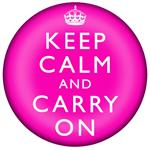 PW2631-Keep Calm and Carry On Hot Pink Paperweight