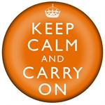 PW2632-Keep Calm And Carry On Orange Paperweight