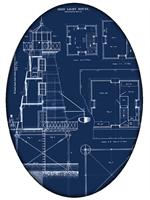 PW2700- Lighthouse Blueprint Paperweight
