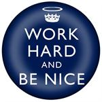 PW2796-Work Hard and Be Nice Navy Paperweight