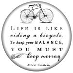PW8252-Life is like riding a bicycle Albert Einstein Quote Paperweight