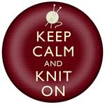 PW8270-Keep Calm And Knit On Paperweight