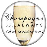 PW8331-Champagne is always the answer Paperweight