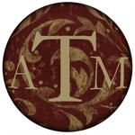 PW878-Burgundy Damask Personalized Paperweight